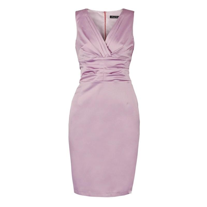 fioletowa sukienka Pretty Girl ołówkowa - sezon wiosenno-letni