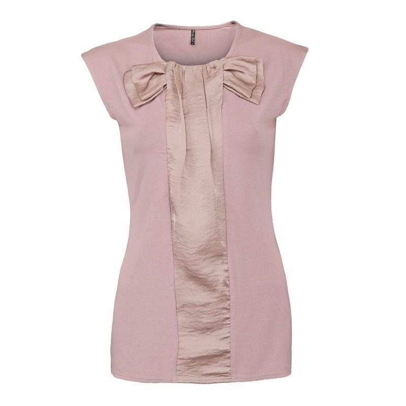 różowa bluzka Pretty Girl z kokardą - moda 2011
