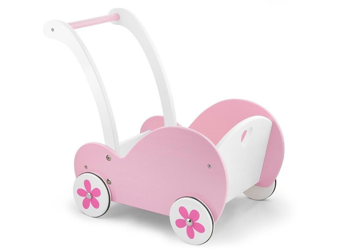 Wózek dla lali, pchacz drewniany, Viga Toys