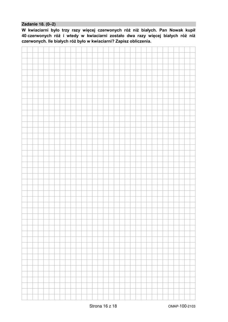próbny egzamin ósmoklasisty 2021 matematyka odpowiedzi