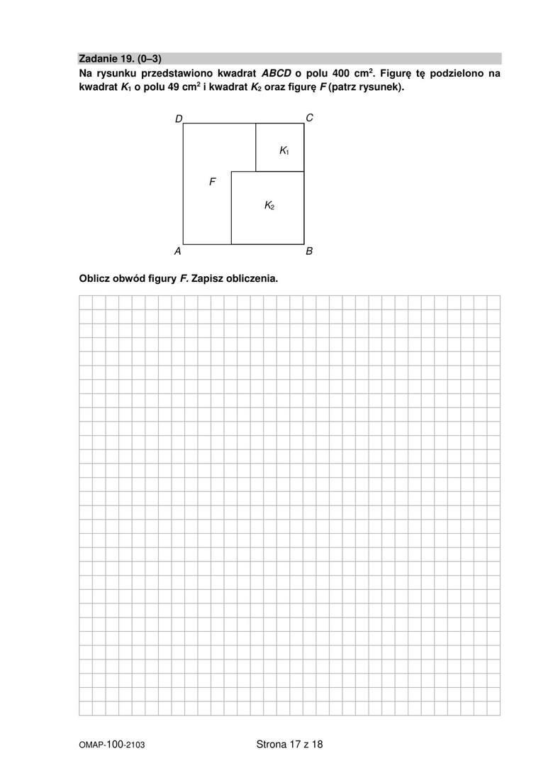 próbny egzamin ósmoklasisty 2021 z matematyki