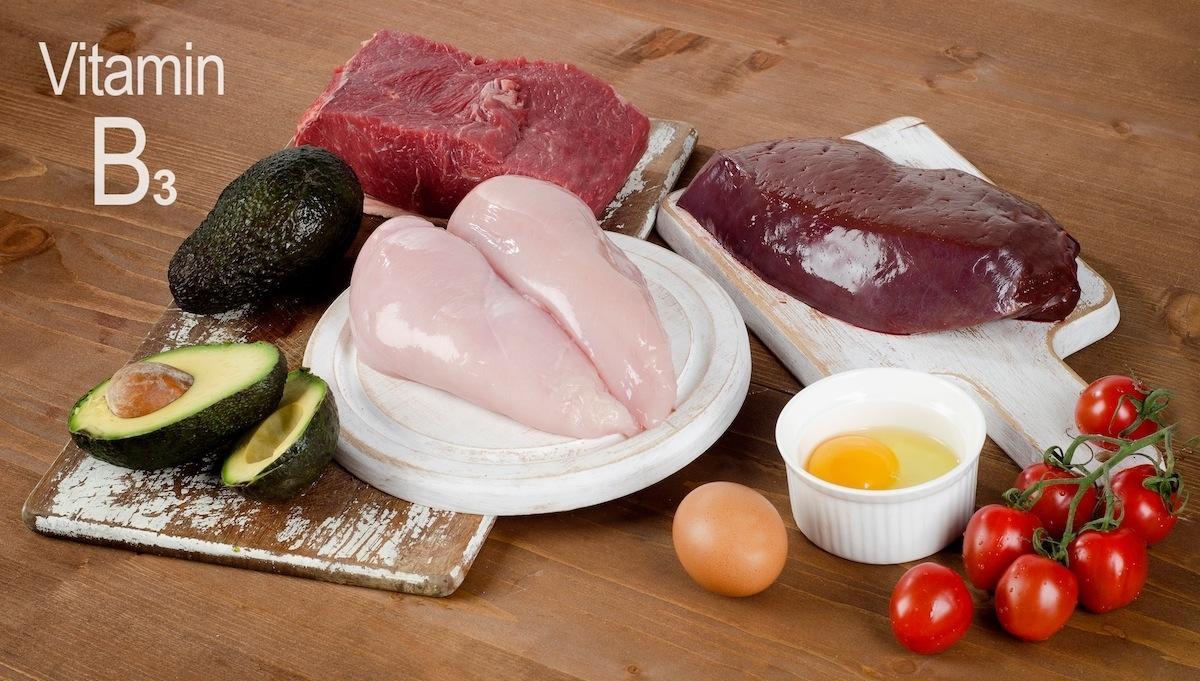 mięso i inne produkty bogate w witaminę B3