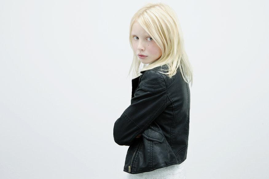 skórzana ramoneska ZARA w kolorze czarnym - ubrania dla dzieci