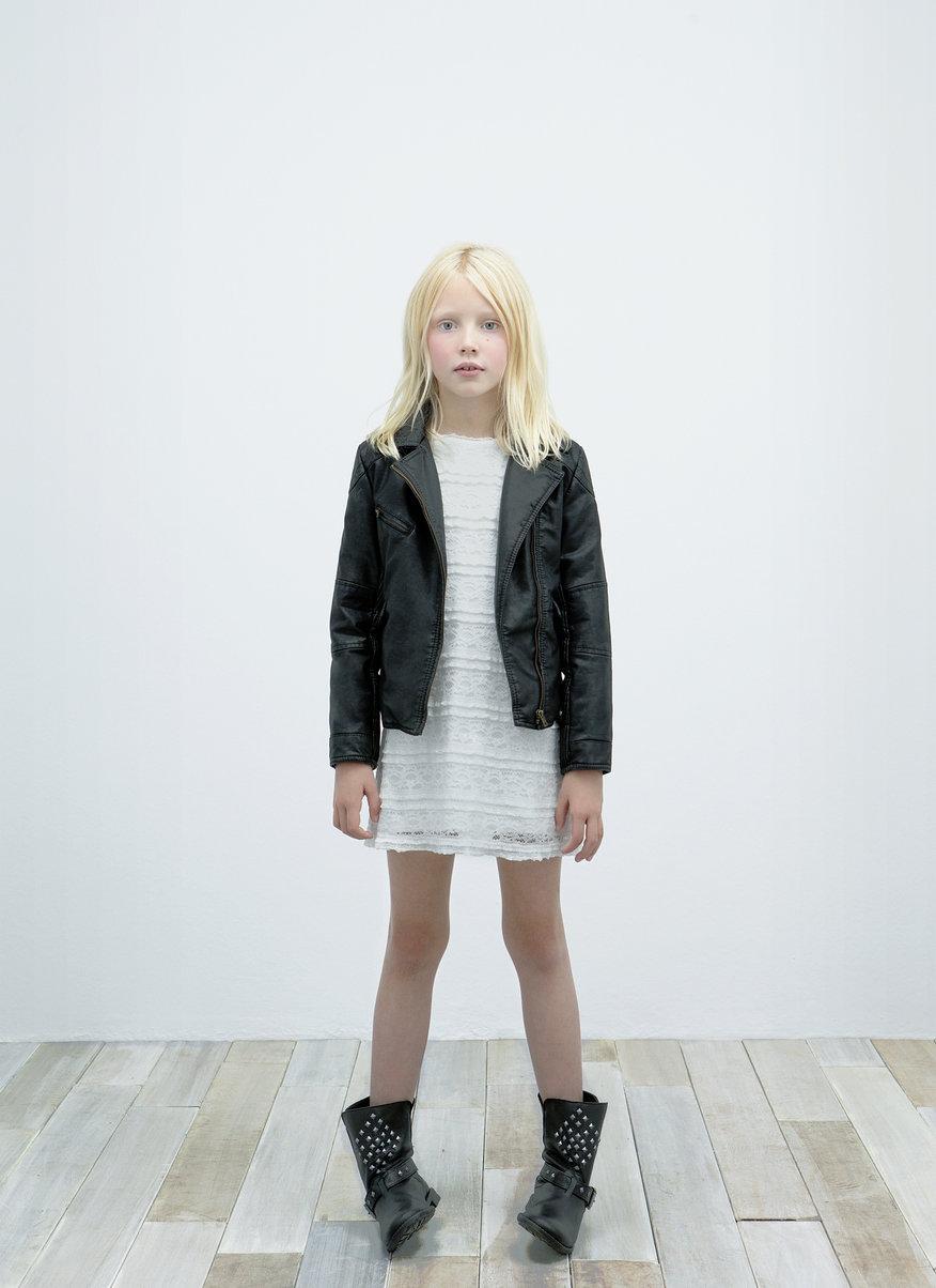 zjawiskowa ramoneska ZARA w kolorze czarnym - kolekcja dziecięca na jesień