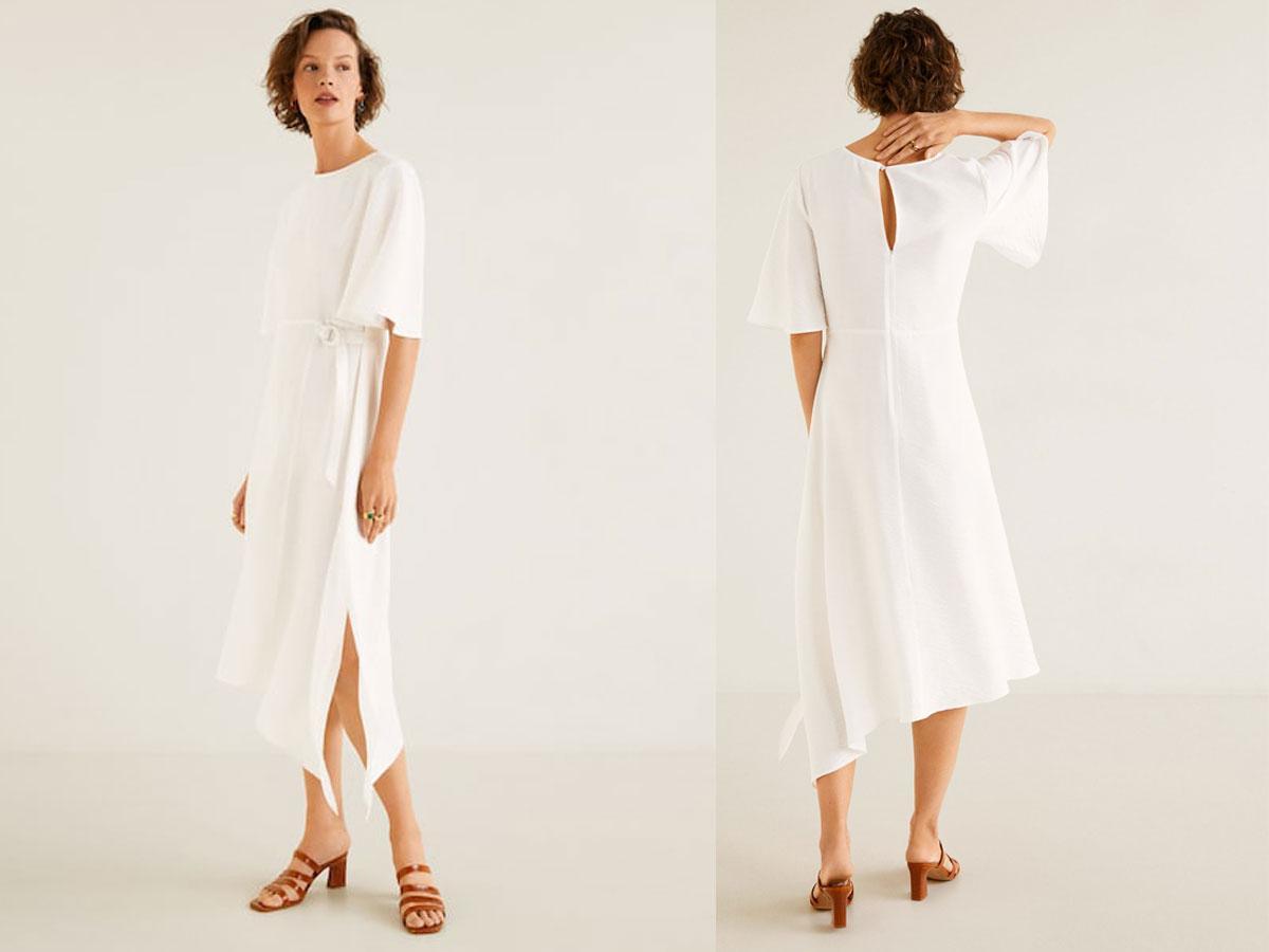 Prosta biała sukienka lato 2019