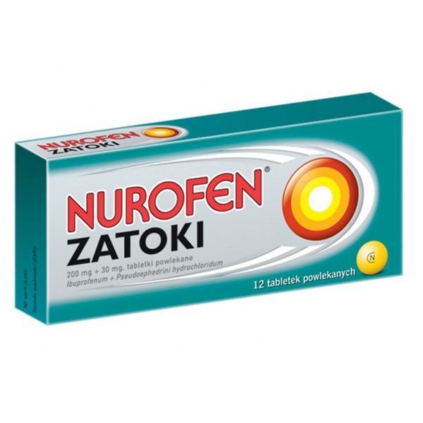 Nurofen zatoki, cena: ok. 10 zł (opakowanie 12 tabletek)