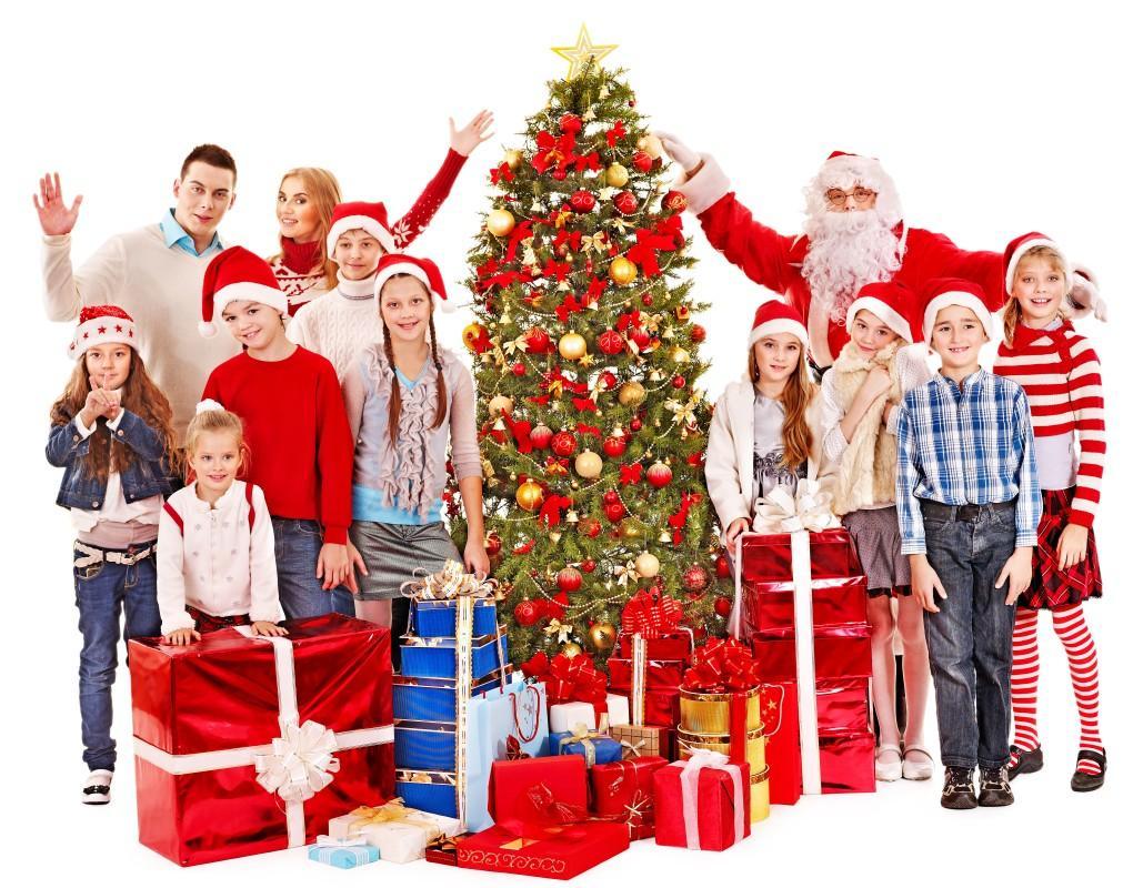 rodzina, święta, mikołaj, prezenty