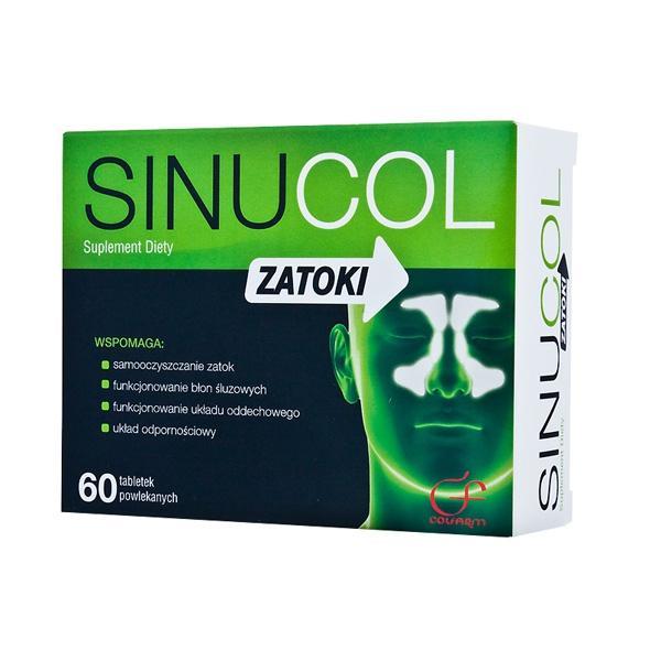 Sinucol, ok. 20 zł (opakowanie 60 tabletek)