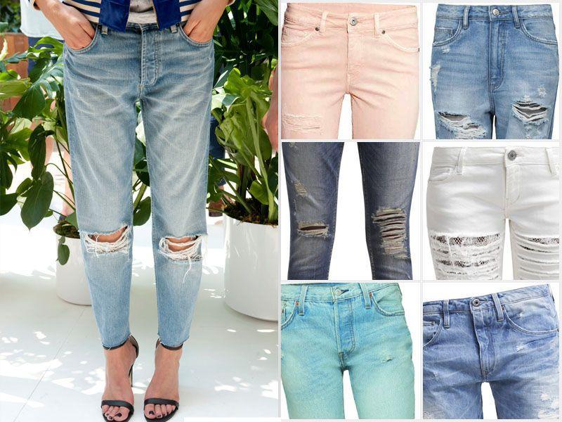 5a1f836fa46c78 Spodnie z przetarciami - Jeansy z dziurami - Trendy sezonu - Trendy ...