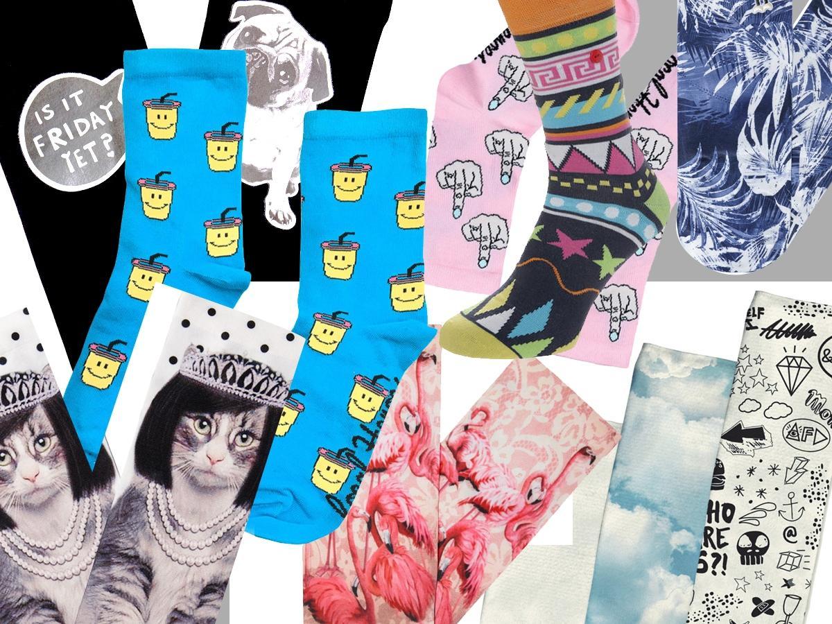 312545a9d1d964 Kolorowe skarpety - Skarpetki w zabawne wzory - Zakupy - Shopping ...