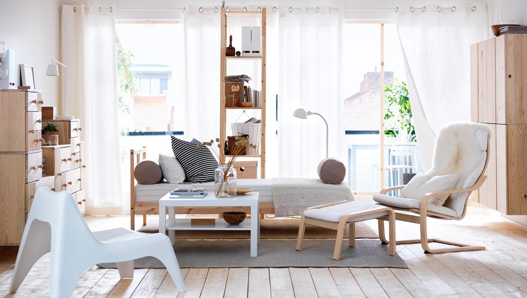przytulny salon inspirowany przez ikea aran acje wn trz. Black Bedroom Furniture Sets. Home Design Ideas