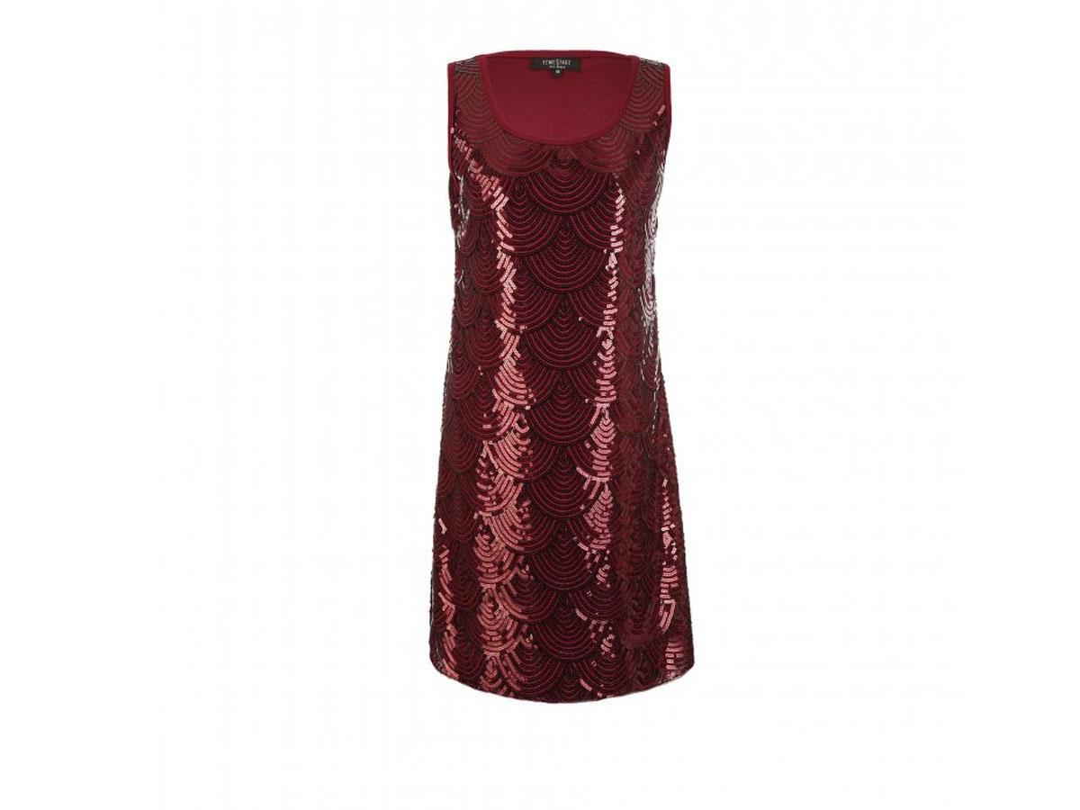 Bordowa cekinowa sukienka, Femestage, cena ok. 169,90 zł