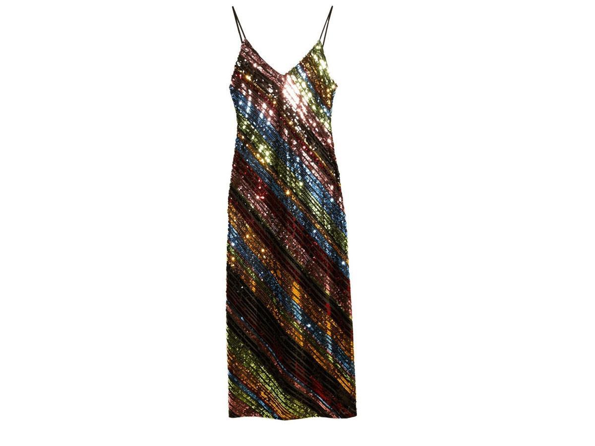 Sukienka na ramiączkach z cekinami, Stradivarius, cena ok. 299,00 zł