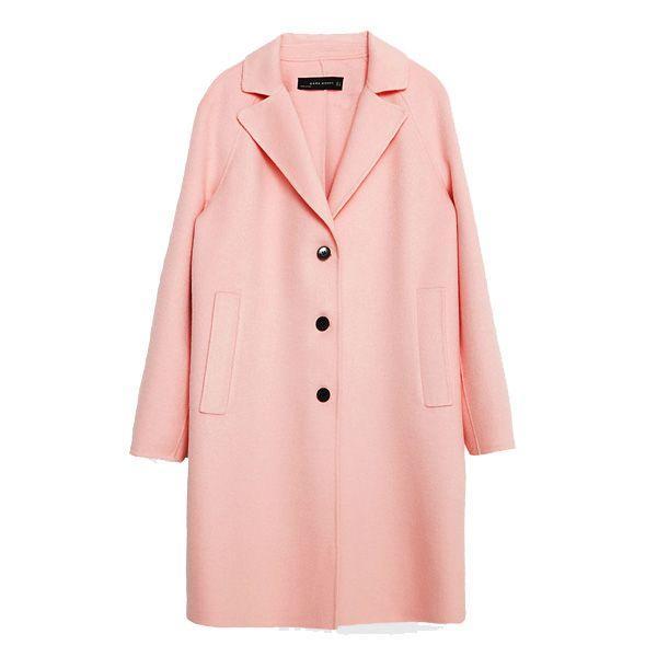 Różowy płaszcz Zara, cena