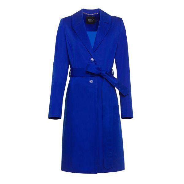 Niebieski płaszcz Simple, cena