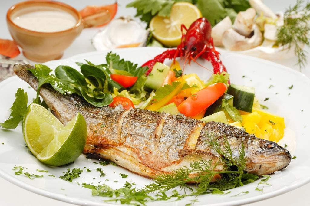 ryby, pstrąg pieczony