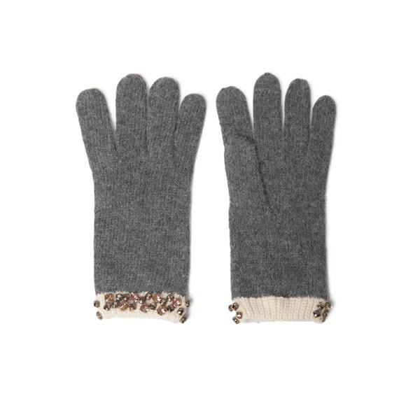 Szare rękawiczki z dodającymi szyku kamyczkami. Zara, 89,90 zł