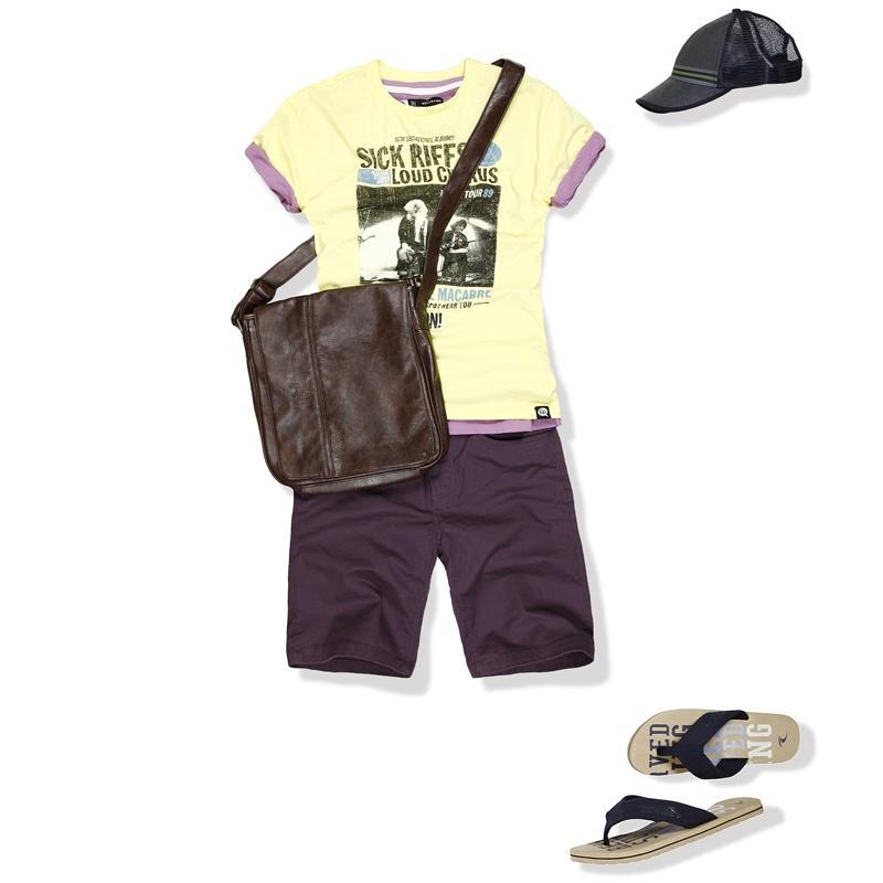 żółty t-shirt Reserved z nadrukiem - wiosna/lato 2012