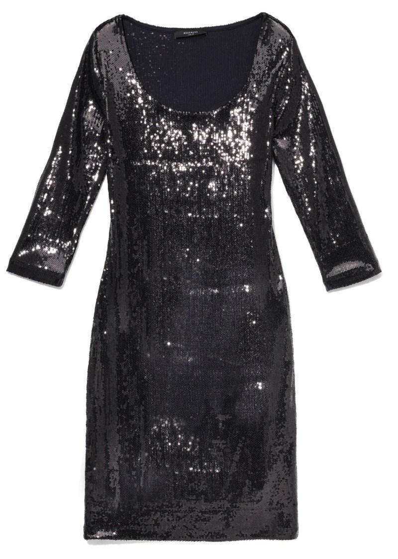czarna sukienka wieczorowa Reserved świecąca