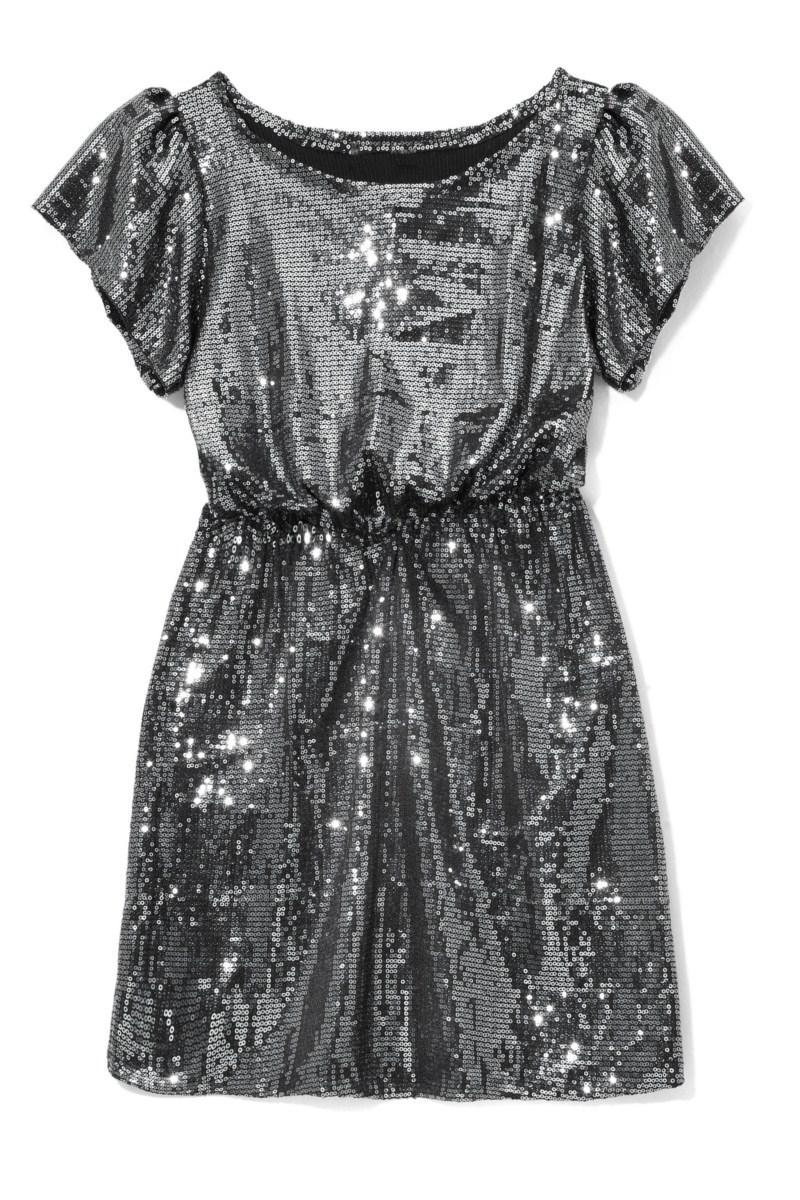 srebrna sukienka wieczorowa Reserved