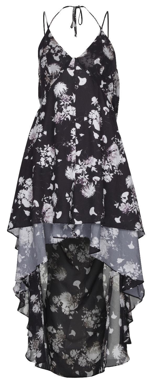 czarna sukienka River Island w kwiaty - moda na lato