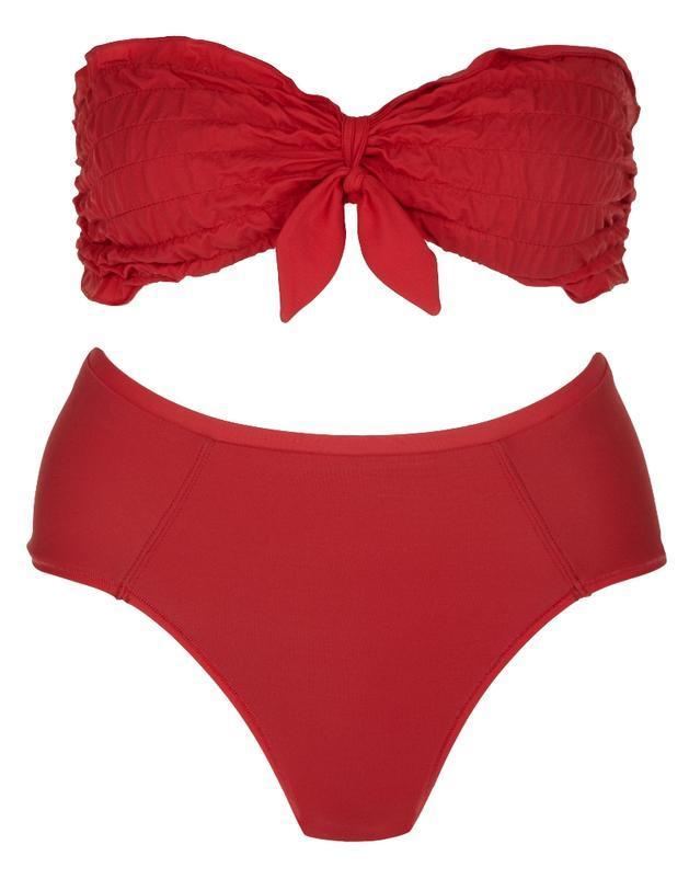 bordowe strój kąpielowy River Island - moda na lato