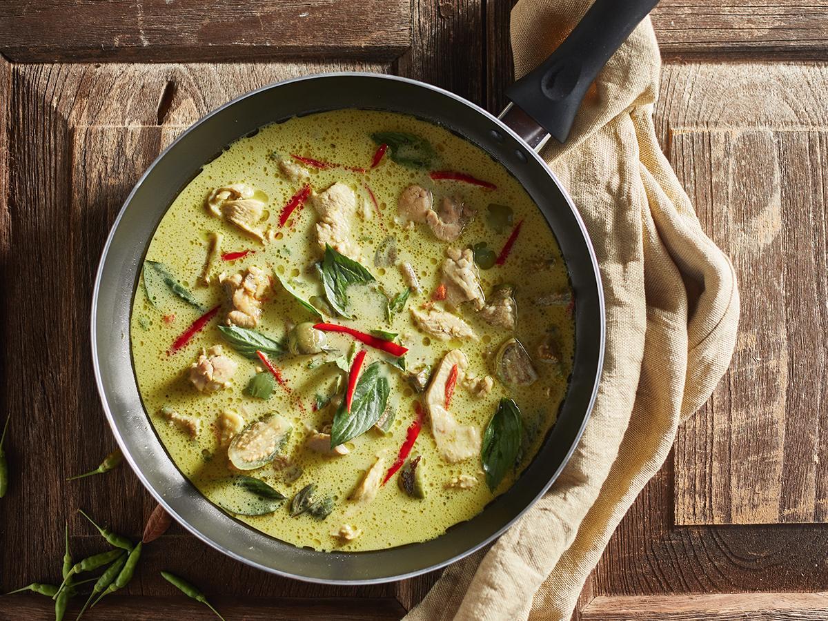 przepis na zielone curry