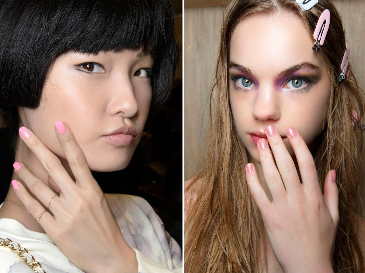 Różowe paznokcie pastelowe odcienie