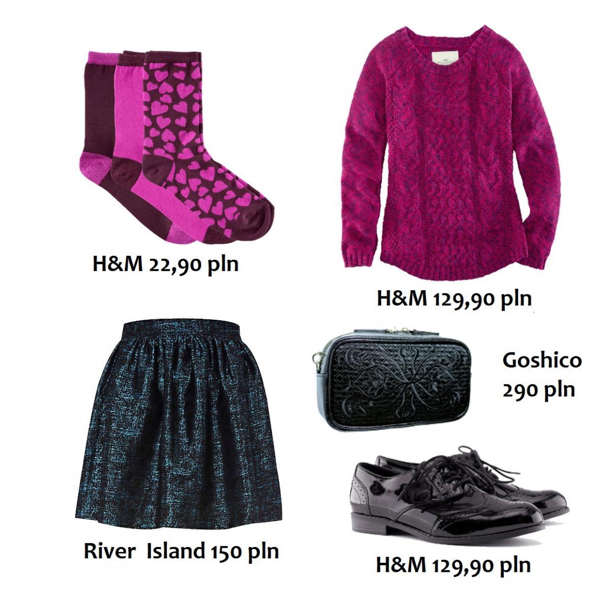 Różowy sweterek w roli głównej - stylizacje na jesień 2012