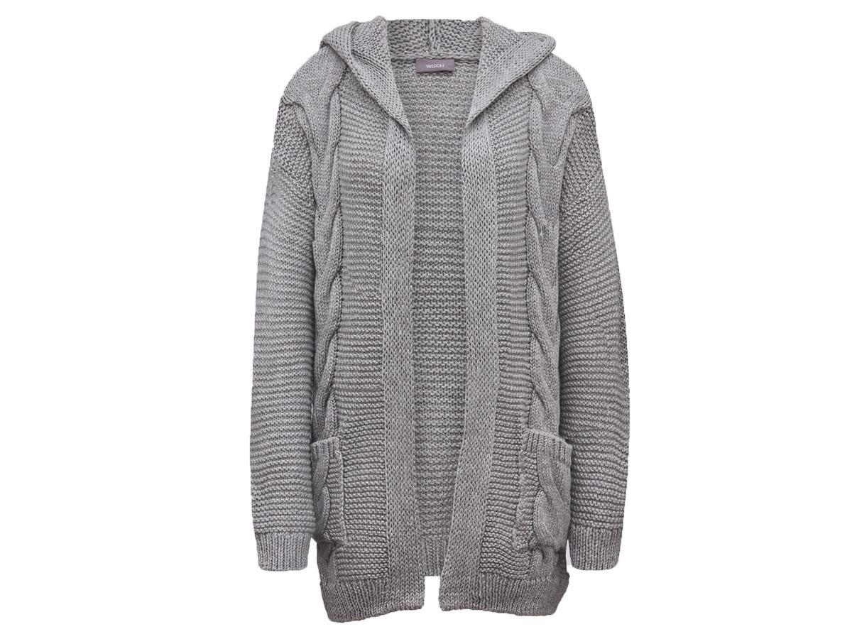 Rozpinany sweter z kapturem C&A
