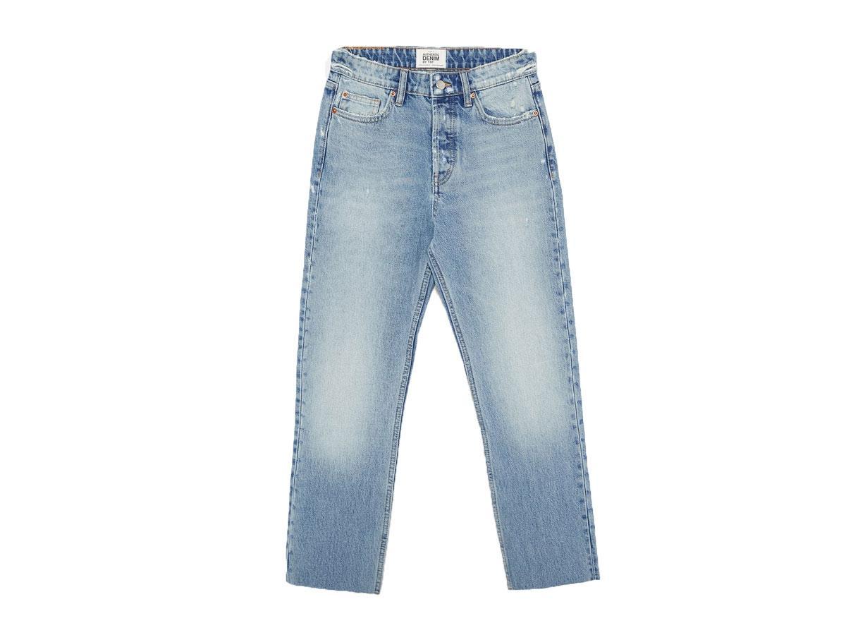 Dżinsy o prostym kroju z wysokim stanem, Zara, cena ok. 69,90 zł (z 109,00 zł)