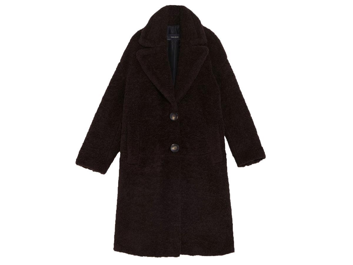 Płaszcz ze sztucznego futerka, Zara, cena ok. 199,00 zł (z 349,00 zł)