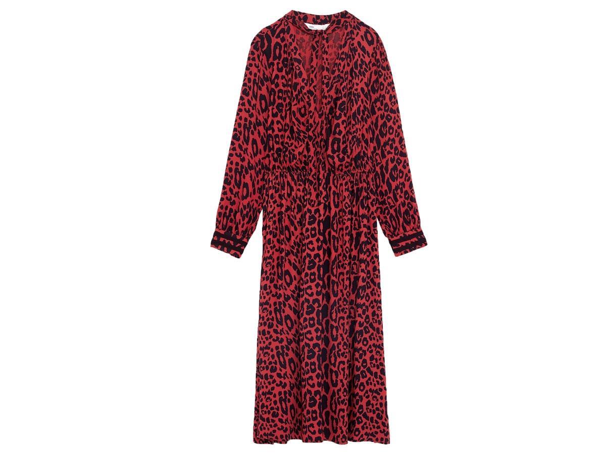 Sukienka ze zwierzęcym nadrukiem, Zara, cena ok. 109,00 zł (z 199,00 zł)