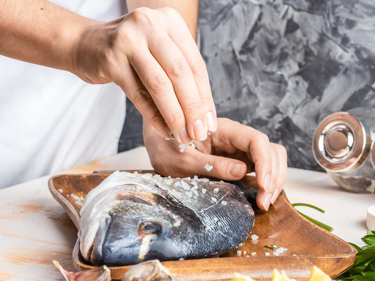Ryba z grilla marynata