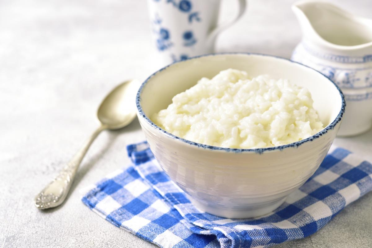 Ryż ugotowany na mleku