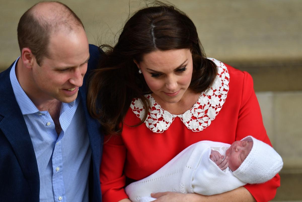 książę William, księżna Kate, książę Louis