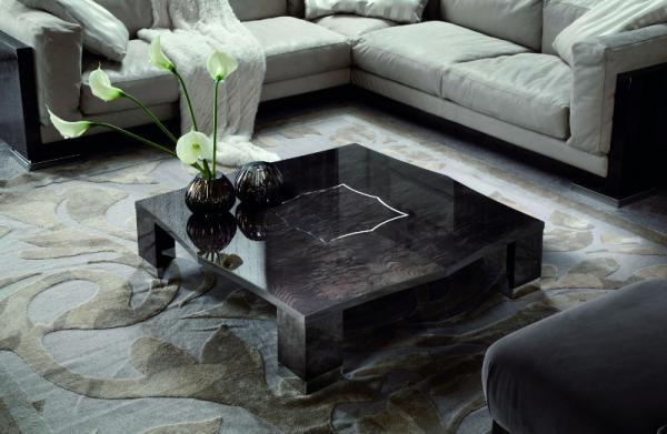 Unikatowy niski stolik kawowy w kolorze przydymionej czerni -Patt Mebel 2013