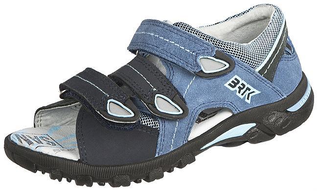 niebieskie sandałki BARTEK na rzepy