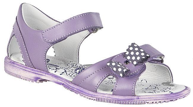 fioletowe sandałki BARTEK z kokardą