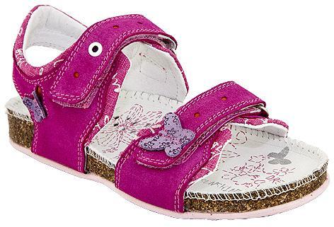 różowe sandałki BARTEK z motylkami