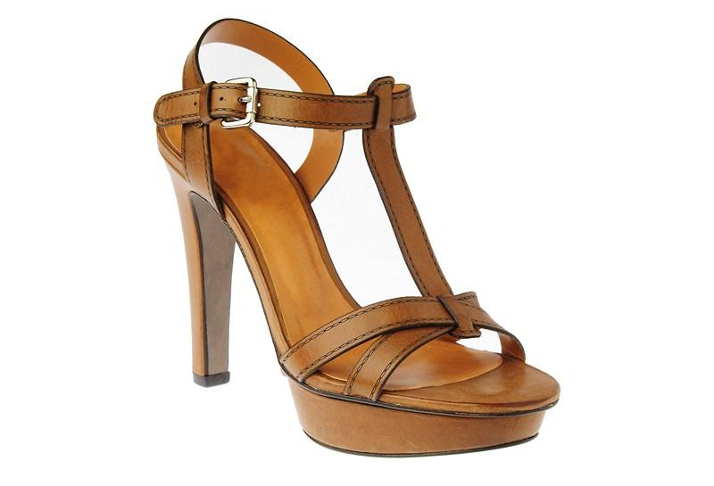 507e6e794d7df brązowe sandały Gino Rossi na obcasie - wiosna/lato 2012 - Sandały ...