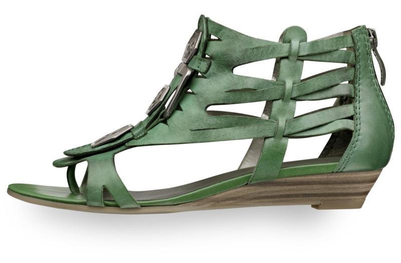 zielone sandały Tamaris - wiosna/lato 2011