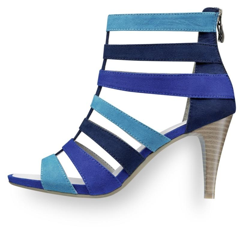 niebieskie sandały Tamaris na obcasie - wiosna/lato 2011