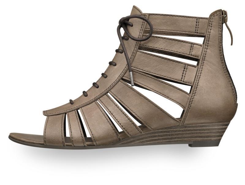 brązowe sandały Tamaris - sezon wiosenno-letni