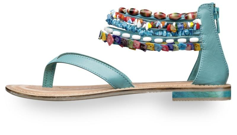 niebieskie sandały Tamaris - wiosna/lato 2011
