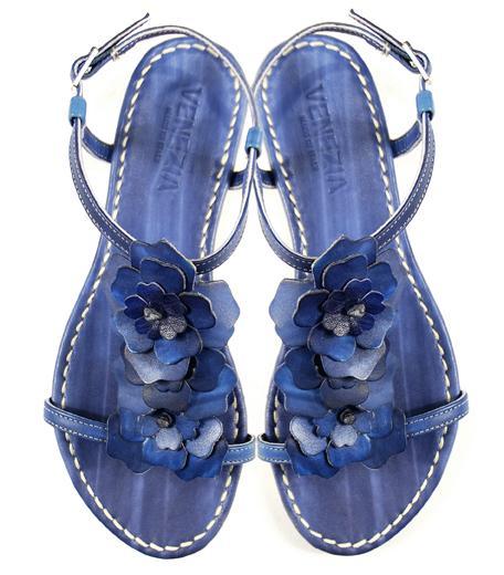 niebieskie sandały Venezia - wiosna-lato 2011