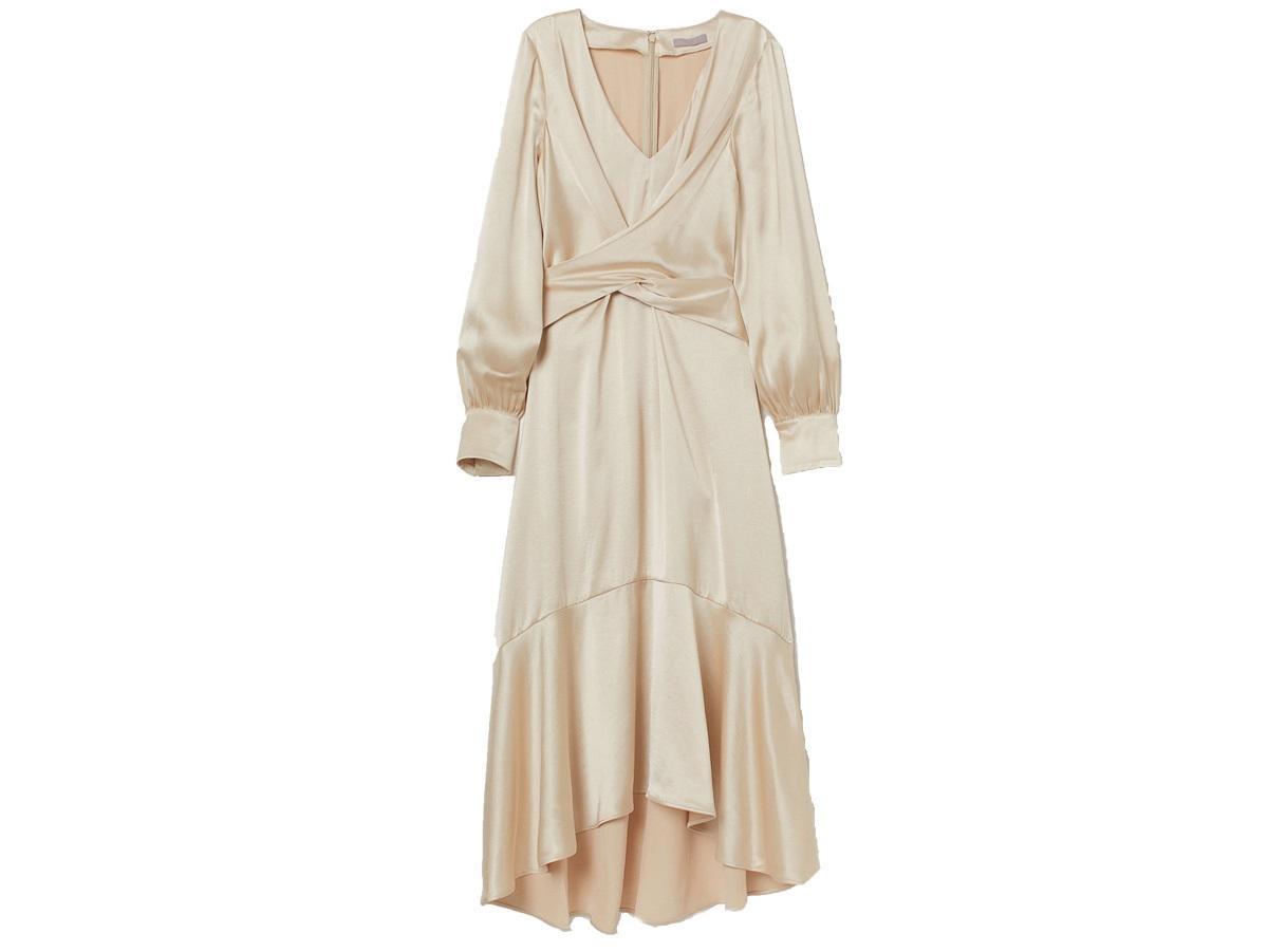 Satynowa sukienka H&M
