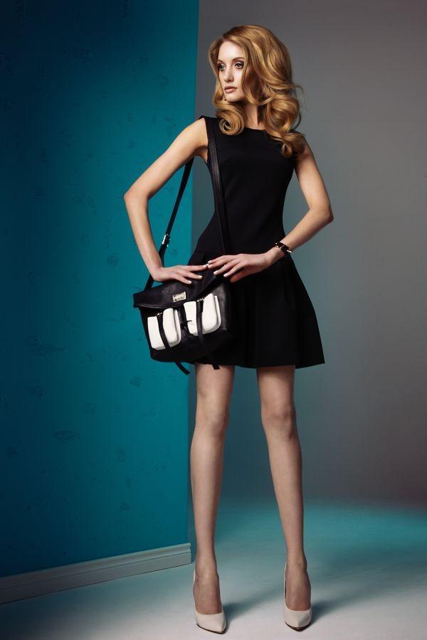 czarna sukienka Sesst  moda na wiosnę i lato 2013