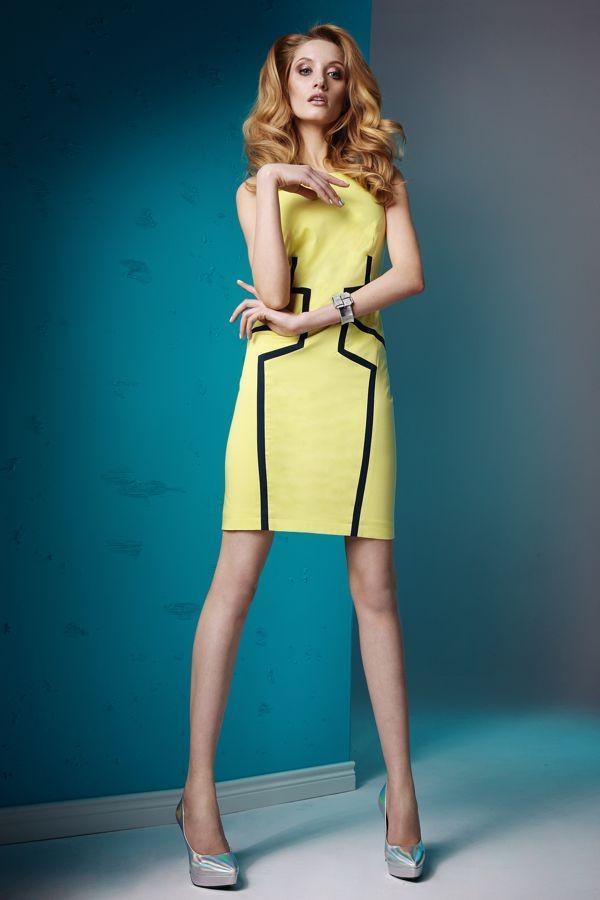 żółta sukienka Sesst  wiosna/lato 2013