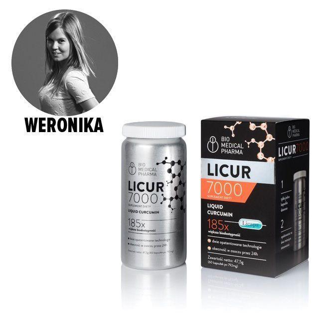 Licur7000, suplement diety z kurkuminą - cena ok. 200 zł